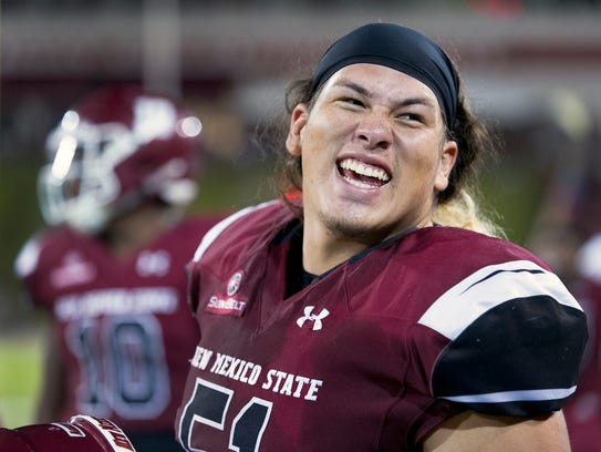 Roy Lopez and the New Mexico State defense faces the