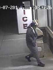 The Wausau Police Department is seeking information on the man seen in this picture. He is believed to have robbed two businesses in the past week.
