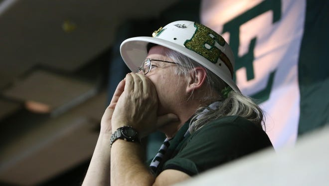 Carl Ebach is a super fan for Eastern Michigan and has attended every home game since 1995. (Eastern Echo photo)