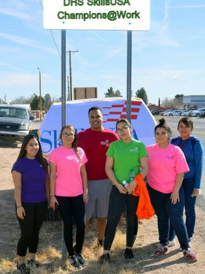 The SkillsUSA Chapter at Deming High School is making itself visible with community awareness projects. Students recently adopted a highway.