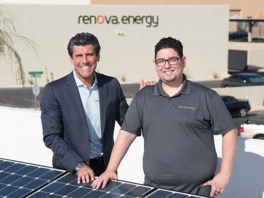 COD alumnus Hector Rochin with Renova Founder Vincent