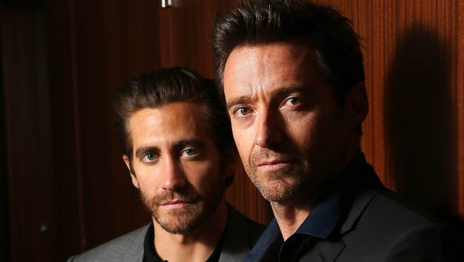 Jake Gyllenhaal and Hugh Jackman  co-star in 'Prisoners.'