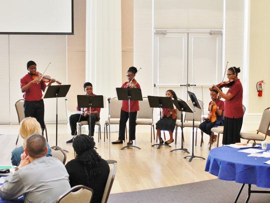 The Gifford Youth Orchestra performed at the School