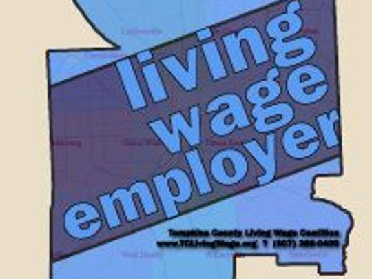 A Tompkins County living wage employer label