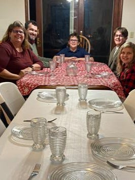 The Martinson family: Jeni, David, John, Cameron and Jade. Normally, there would be about 20 people joining the crew for Thanksgiving and Christmas dinners, but COVID-19 has modified plans.
