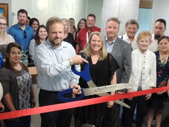 West Texas Counseling and Guidance held a celebration to mark the opening of its new suite of offices in the Cactus Hotel, 36 E. Twohig Ave. in San Angelo.
