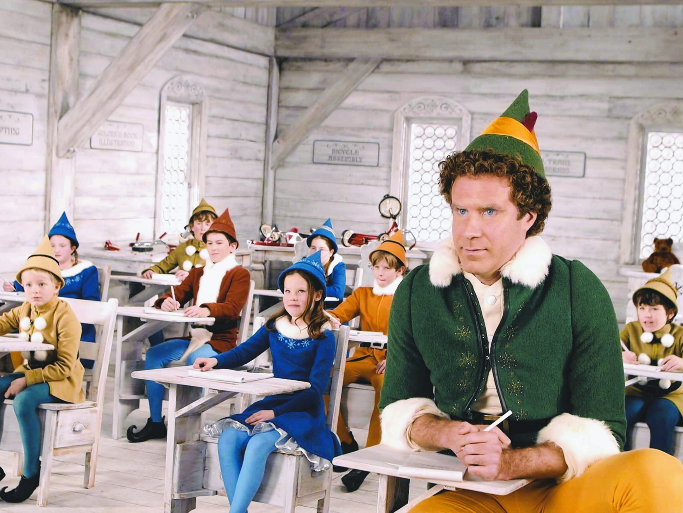 "Will Ferrell (right) stars as Buddy in ""Elf."""