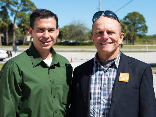 Geoff Sagrans of Localecopia and Carl Frost, owner of Kai Kai Farms in Indiantown