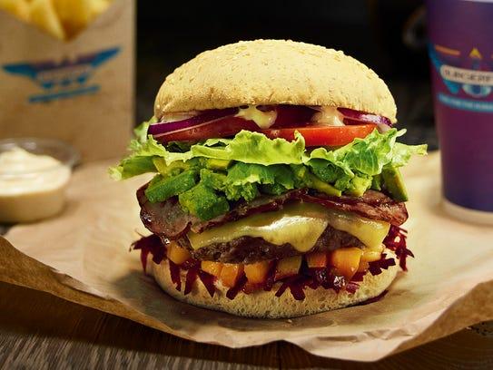 BurgerFuel's Bastard burger with New Zealand Egmont