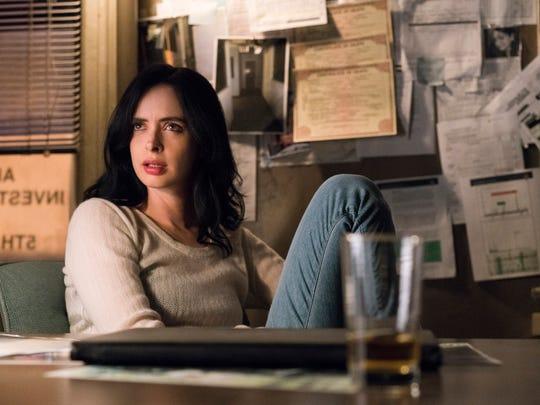 "Krysten Ritter as Jessica on ""Jessica Jones."""