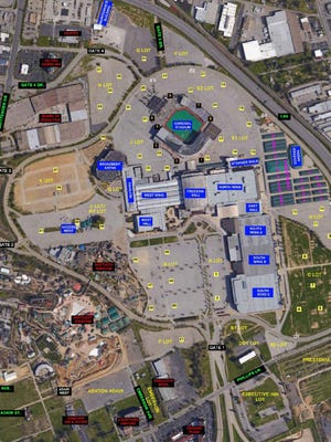 A map of the traffic plan for the 2016 Kentucky State Fair