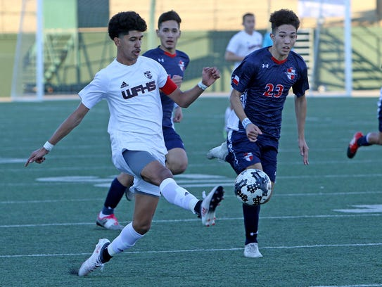 Wichita Falls High School's Alex Ramirez has been his team's leading scorer this season as the Coyotes look to get back to state.