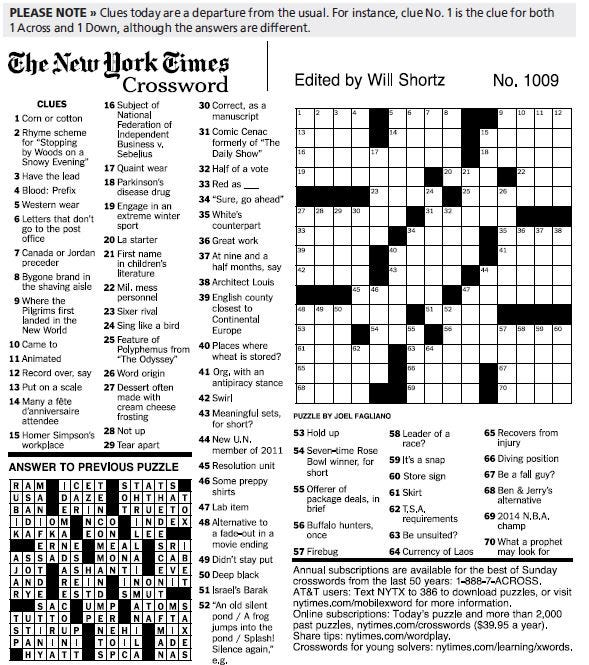 picture regarding Printable Usa Today Crossword Puzzle called Whats the package with the crossword puzzle?