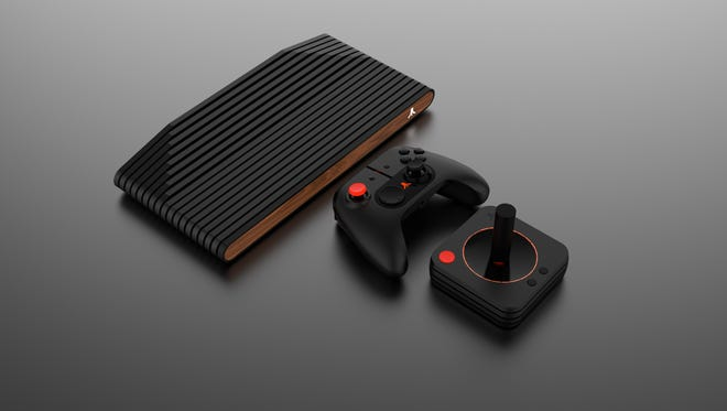 The Atari VCS, a new video game system that plays 100-plus games originally played on the '70s console.