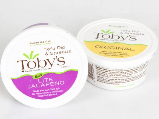 Tofu dip spreads made with non-GMO tofu from Toby's in Springfield, available at Roth's stores for $5.89.