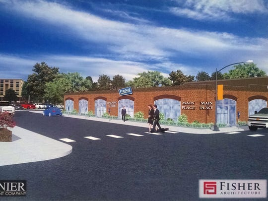 An architect's rendering shows the exterior of the new Perdue Learning Center in Salisbury.