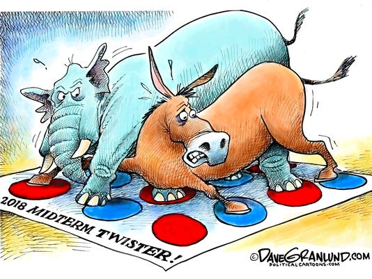 Cartoon: Midterms 2018 Twister