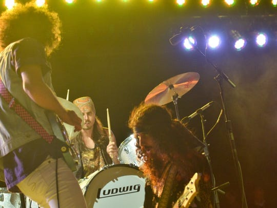 Wolfmother performs on the Palladia Stage at the Kickoff Party at Hangout Music Fest.