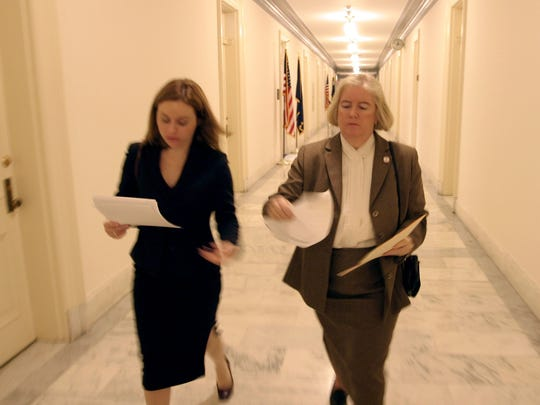 U.S. Rep. Candice Miller and Press Secretary Melissa