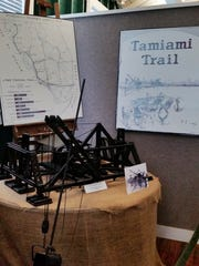 A model of a Bay City dredge is on display at the Museum of the Everglades on Tuesday, Aug. 2. The dredge helped construct Tamiami Trail.