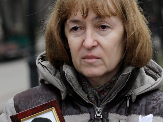 Nataliya Magnitskaya's son Sergei Magnitsky, a lawyer,