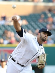 Reliever Arcenio Leon pitches in the ninth inning of