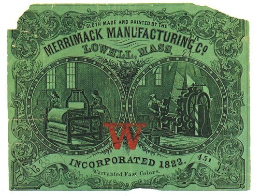 The Merrimack Manufacturing Company was one of many corporations in the city of Lowell, Mass.
