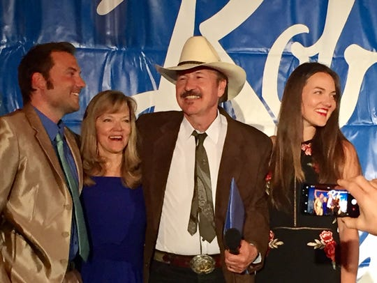 Rob Quist is joined by family members Thursday as he