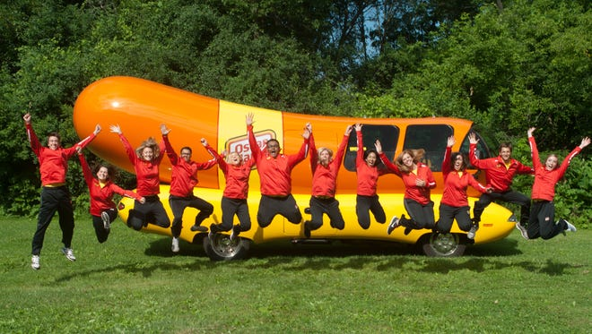 The Wienermobile drivers, known as Hotdoggers, for 2017.