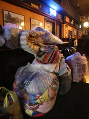 (file photo) Donated blankets are piled up during Blank-Fest