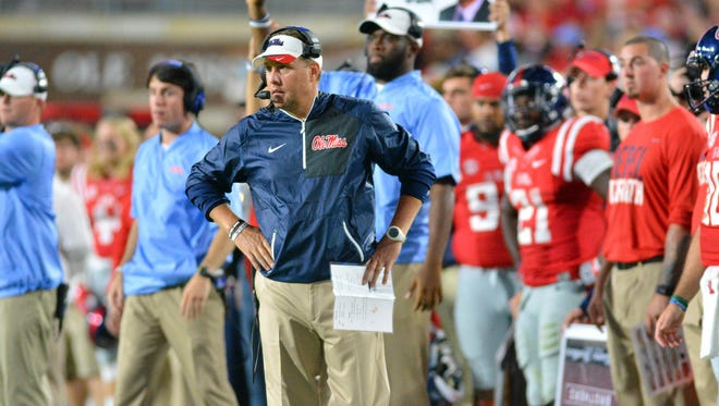 Ole Miss Hugh Freeze will try to find a solution at linebacker where the Rebels are thin.