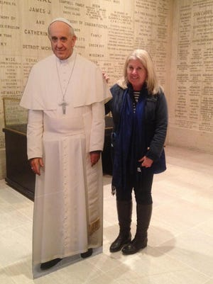 The closest I got to Pope Francis during a visit to the Vatican was this cardboard cutout.