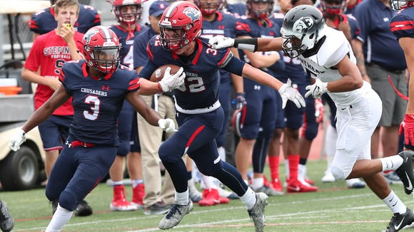 Stepinac defeated Central Dauphin East 32-14 in football action at Archbishop Stepinac High School in White Plains Sept. 8, 2018.