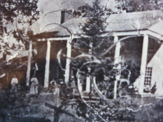 A rare antebellum photograph of a tavern in Deerfield,