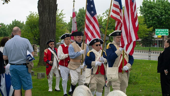 Color Guard was provided by the Michigan Society Sons of the American Revolution.