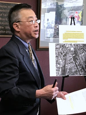 Environmental data analyst Walter Hang discusses a 1988 report about industrial pollution at Elmira High School that he claims was never made public.