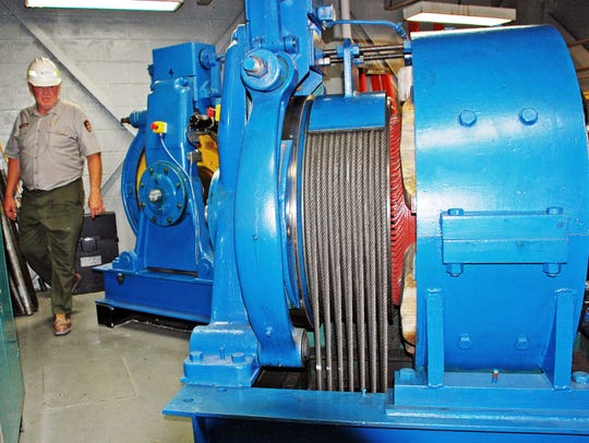 The motors that power the passenger elevators at Carlsbad