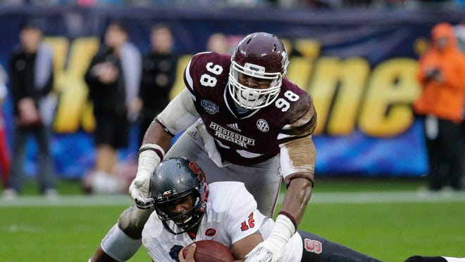 Former Mississippi State defensive lineman Chris Jones is ranked as a first-round pick according to ESPN.