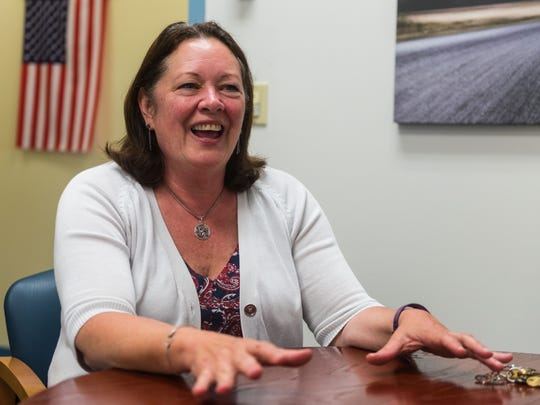Lakeside Middle English teacher Judy Tymkiw will be