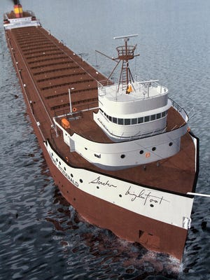 A print of a painting of the Edmund Fitzgerald was signed by Gordon Lightfoot in 2010.