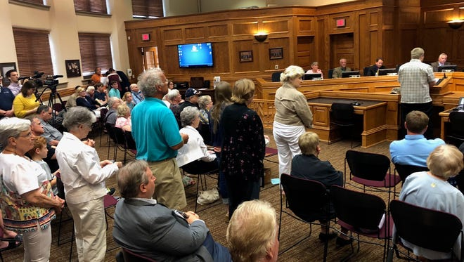 Sioux Falls resident Thor Bardon was among more than 30 people who used public input Tuesday night to lobby the Council to reject a proposal to move that portion of the weekly council meetings to the end of the agenda.