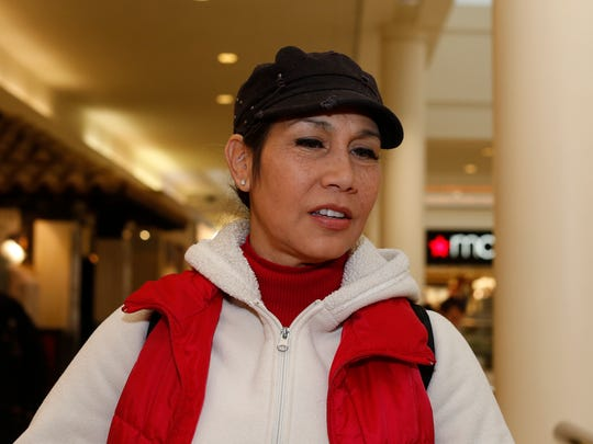Iris Moreira from Pawling talks about 2016 and the upcoming new year at the Poughkeepsie Galleria on Wednesday, December 28, 2016.