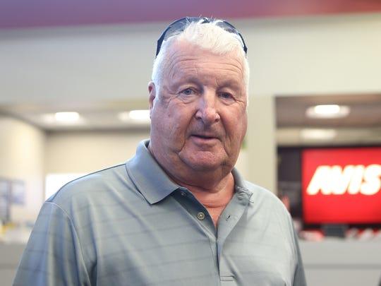 Florida resident Joe Yedowski arrives at Westchester County Airport in White Plains on Thursday, September 7, 2017.
