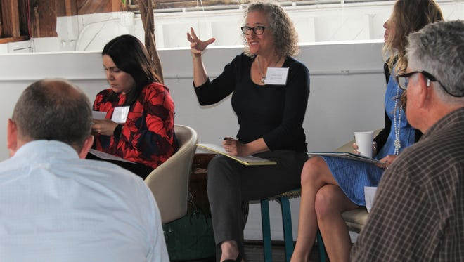 """Key issues for nonprofits are discussed during the """"Adaptive Leadership in a Changing Landscape"""" session in Santa Barbara."""