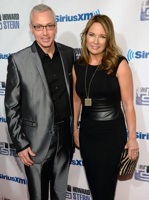 Dr. Drew Pinsky and his wife, Susan Sailer, on Jan. 31 in New York.