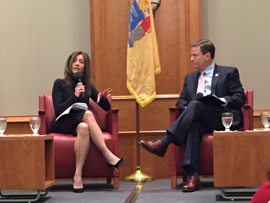 New Jersey first lady Tammy Murphy discussed her husband's policies addressing women in the workplace at a forum Monday.