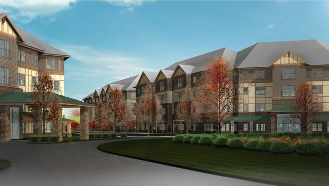 A rendering of Givens Gerber Park. The South Asheville development aims to create 262 units of senior housing.