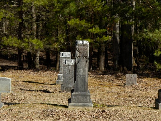 The Primitive Baptist Church cemetery in Cades Cove at the Great Smoky Mountains National Park