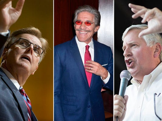 Dan Patrick Geraldo Rivera Mike Collier