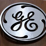 File photo taken in 2014 shows a General Electric (GE) logo at a store in Cranberry Township, Pa.